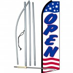 Open Stars & Stripes Swooper Flag Bundle