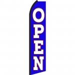 Open Blue & White Swooper Flag