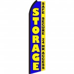 Storage Blue Safe Secure 24 Hr Access Swooper Flag