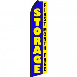 Storage Blue First Month Free Swooper Flag