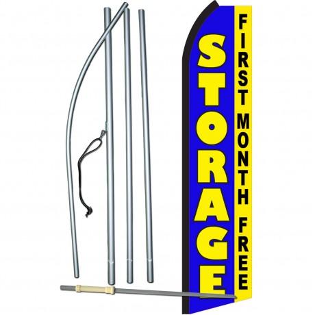 Storage Blue First Month Free Swooper Flag Bundle