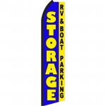 Storage Blue RV & Boat Parking Swooper Flag
