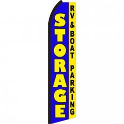 Storage Blue RV & Boat Parking Swooper Flag