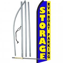 Storage Blue RV & Boat Parking Swooper Flag Bundle