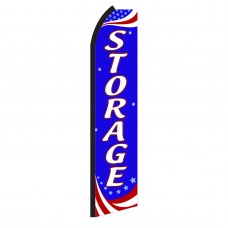 Storage Red, White & Blue Swooper Flag