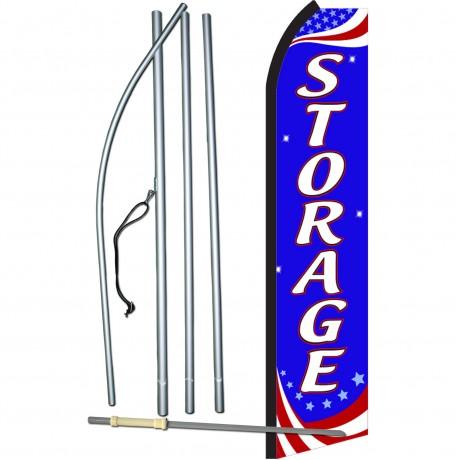 Storage Patriotic Swooper Flag Bundle