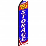 Self Storage Patriotic Swooper Flag