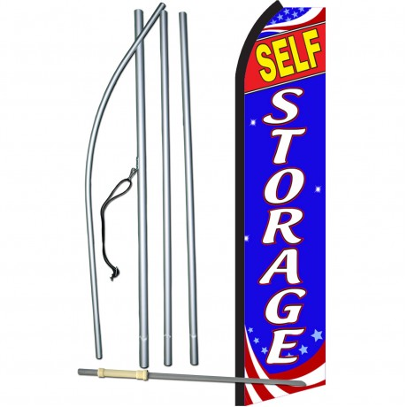Self Storage Patriotic Swooper Flag Bundle