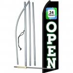 Open 24 Hours Swooper Flag Bundle