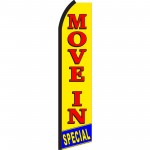 Move In Special Yellow & Red Swooper Flag