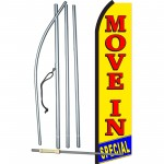 Move In Special Yellow & Red Swooper Flag Bundle