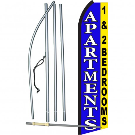 Apartments 1 & 2 Swooper Flag Bundle
