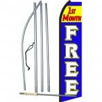 1st Month Free B/W  Swooper Flag Bundle