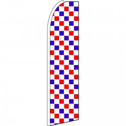 Checkered Extra Wide Red, White & Blue Swooper Flag