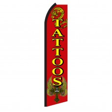 Tattoos Red & Yellow Swooper Flag