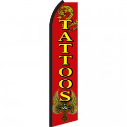 Tattoos Red Swooper Flag