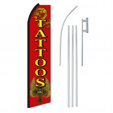 Tattoos Red & Yellow Swooper Flag Bundle