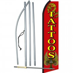 Tattoos Red Swooper Flag Bundle