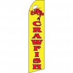 Crawfish Extra Wide Swooper Flag
