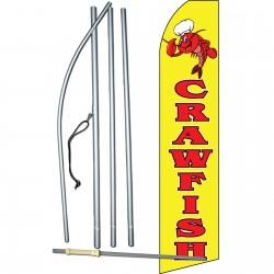 Crawfish Extra Wide Swooper Flag Bundle
