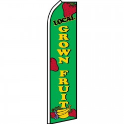 Local Grown Fruit Swooper Flag