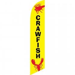 Crawfish Yellow Windless Swooper Flag