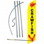 Crawfish Yellow Windless Swooper Flag Bundle