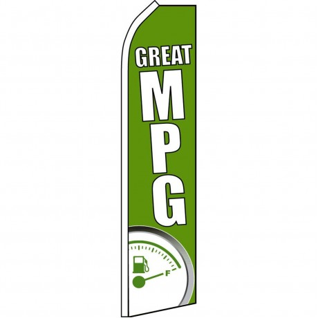 Great MPG Green Swooper Flag