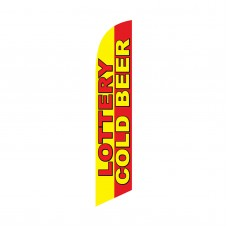 Lottery Cold Beer Swooper Flag
