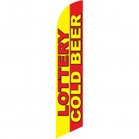 Lottery Cold Beer Windless Swooper Flag
