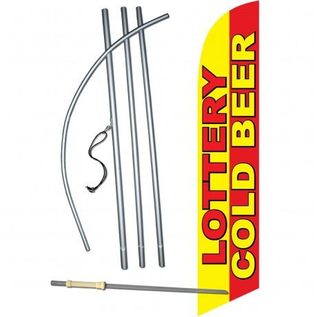 Lottery Cold Beer Windless Swooper Flag Bundle