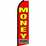 Money Orders Red Swooper Flag