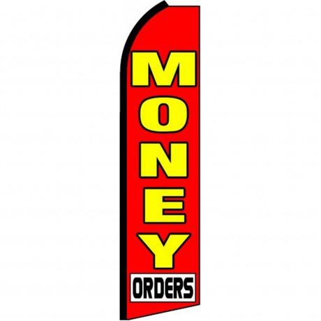 Money Orders Red Swooper Flag