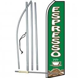 Espresso Green Swooper Flag Bundle