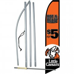 Little Caesars Hot-N-Ready Swooper Flag Bundle