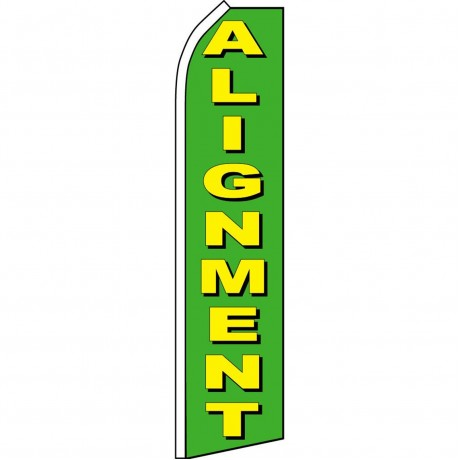 Alignment Green Swooper Flag