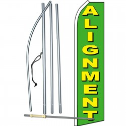 Alignment Green Swooper Flag Bundle