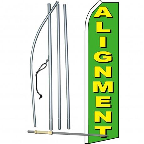 Alignment Green Swooper Flag Bundle