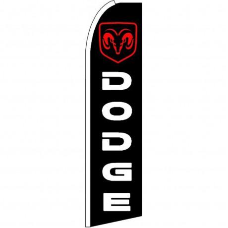 Dodge Ram Black Red Extra Wide Swooper Flag