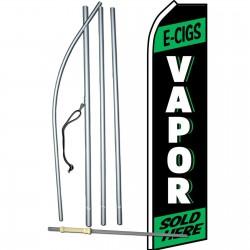 E-cigs Vapor Sold Here Swooper Flag Bundle