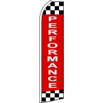 Performance Checkered Extra Wide Swooper Flag