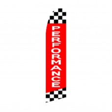 Perormance Checkered Extra Wide Swooper Flag