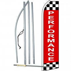 Performance Checkered Extra Wide Swooper Flag Bundle