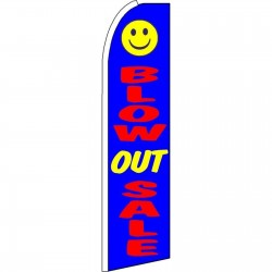 Blow Out Sale Blue Swooper Flag