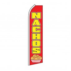 Nachos Red & Yellow Swooper Flag
