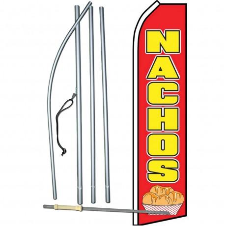 Nachos Red Swooper Flag Bundle