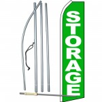 Storage Green Swooper Flag Bundle
