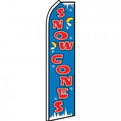 Snow Cones Blue Red Swooper Flag