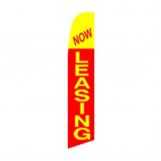 Now Leasing Red & Yellow Swooper Flag