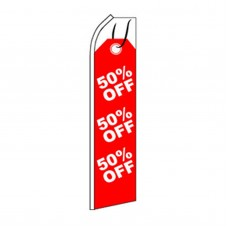 50% Off Tag Swooper Flag